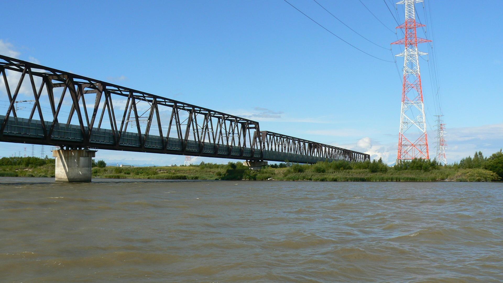 JR北海道学園都市線に掛かる橋梁