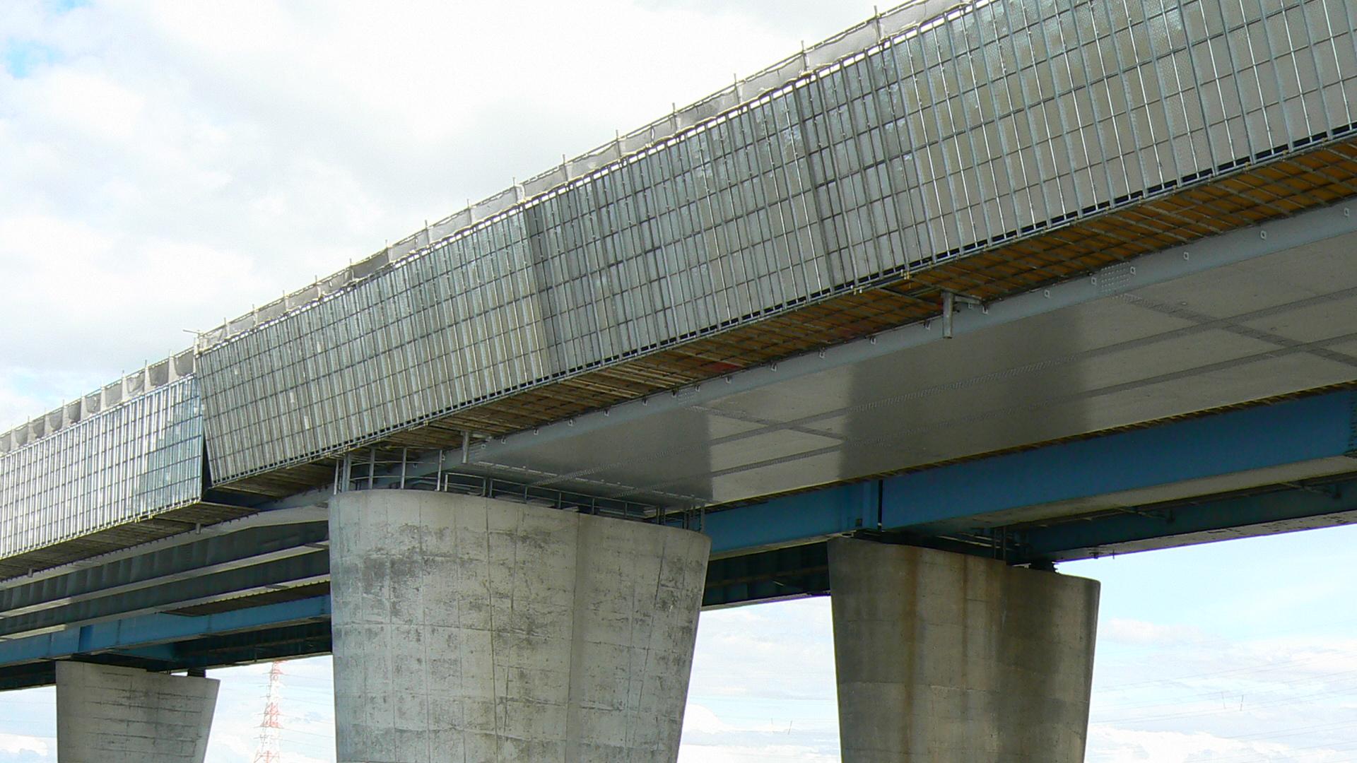 国道337号線 工事中の札幌大橋